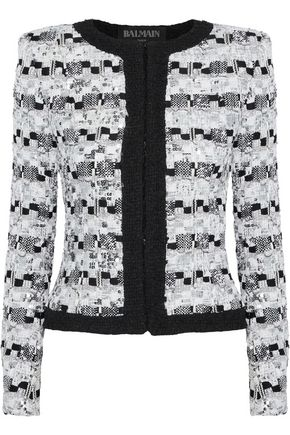BALMAIN Sequin-embellished bouclé-tweed jacket