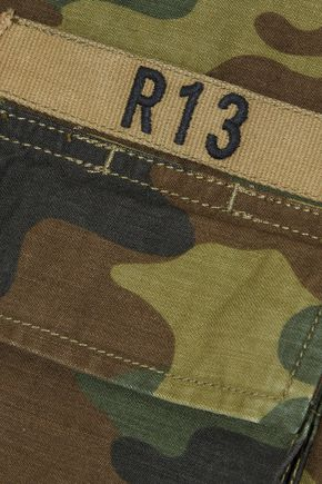 R13 Abu printed cotton-canvas jacket