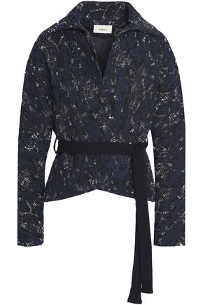 BA&SH Cotton-blend jacquard jacket