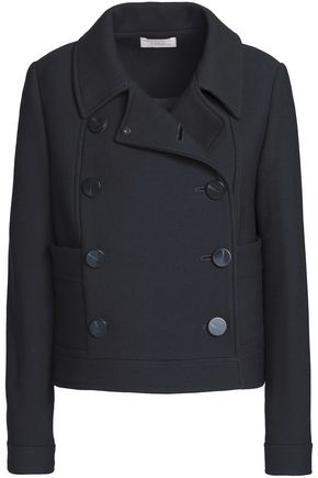 BA&SH Double-breasted wool-blend crepe jacket
