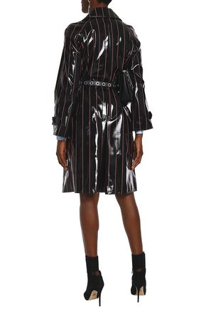 VERSUS VERSACE Double-breasted coated PVC trench coat