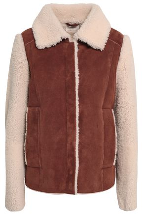 BA&SH Shearling and suede coat
