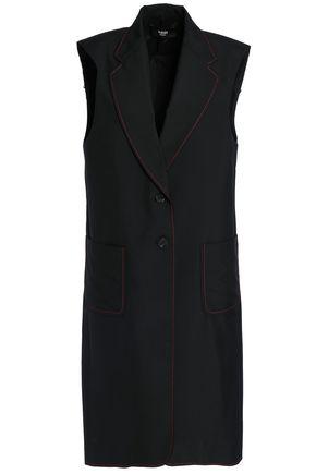 VERSUS VERSACE Fringe-trimmed twill vest