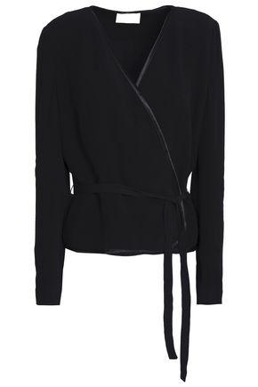 BA&SH Satin-trimmed crepe jacket