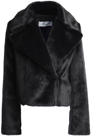 DIANE VON FURSTENBERG Faux fur biker jacket