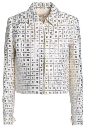 TORY BURCH Metallic jacquard jacket