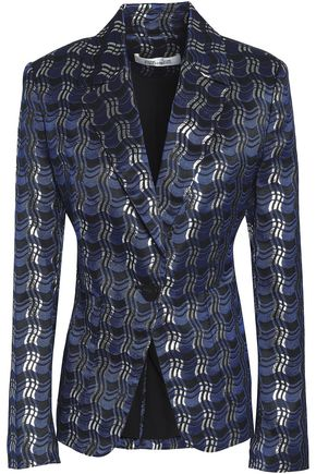 DIANE VON FURSTENBERG Metallic jacquard blazer