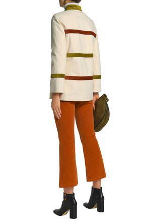 TORY BURCH Corduroy-paneled cotton-canvas jacket
