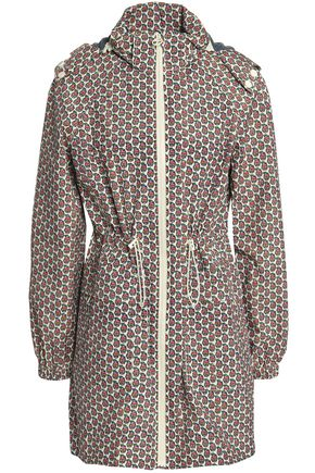 TORY BURCH Printed shell hooded jacket