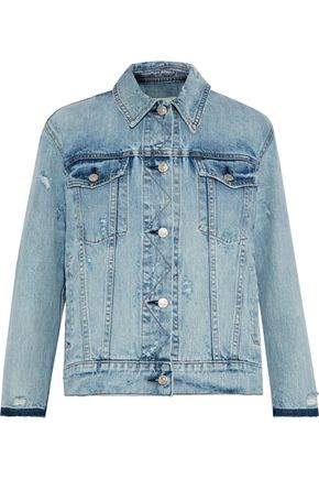 RAG & BONE Maxwell distressed denim jacket