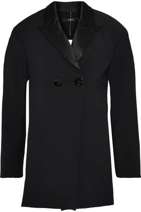 ELLERY Incognito cutout satin-trimmed ponte jacket