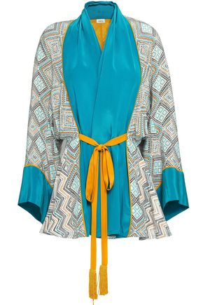 TALITHA Printed silk crepe de chine kimono