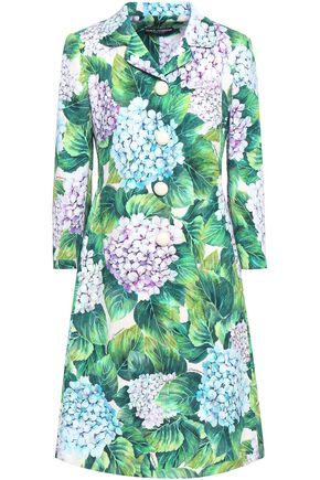 DOLCE & GABBANA Cotton-blend floral-jacquard jacket
