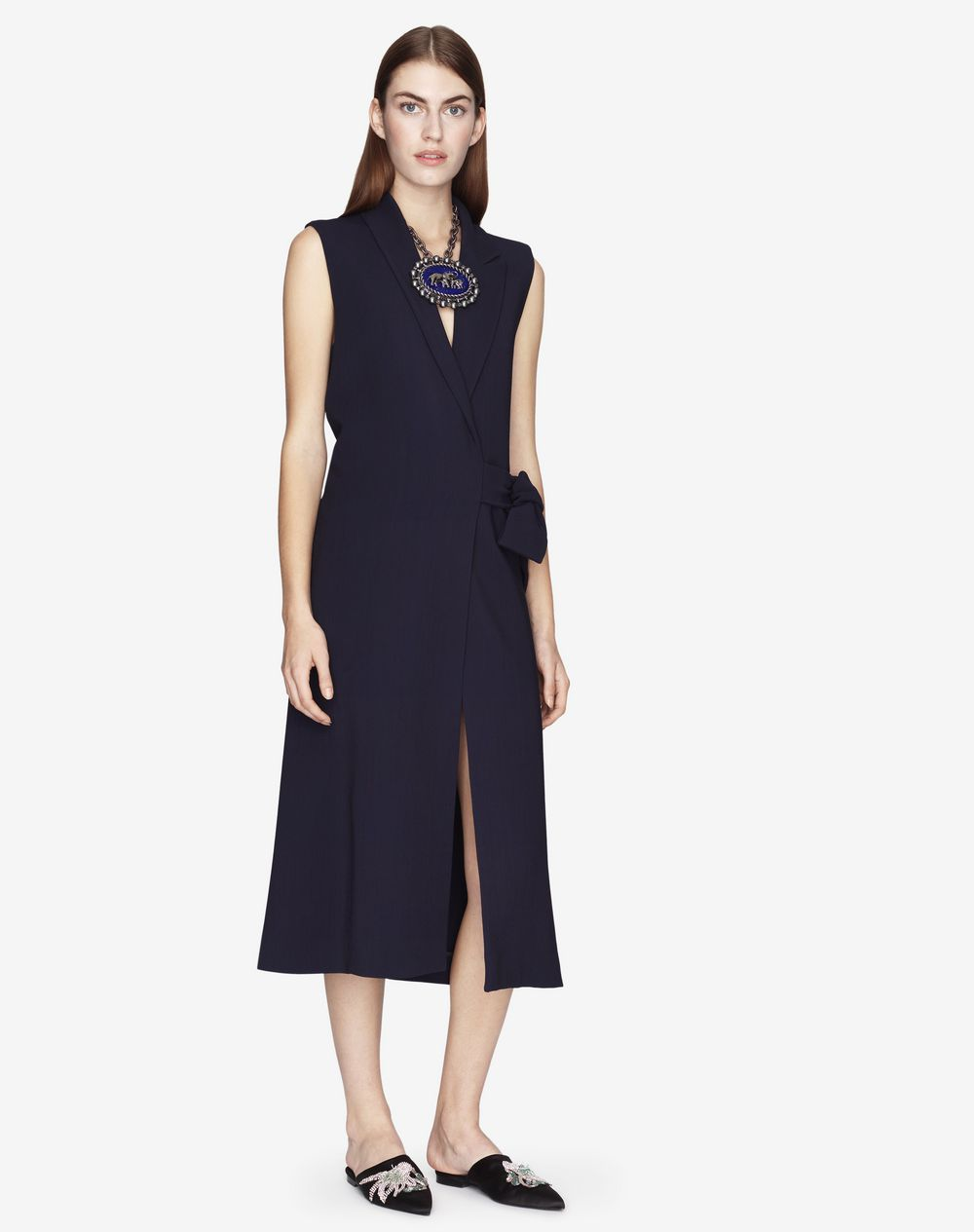 ASYMMETRICAL SLEEVELESS COAT - Lanvin