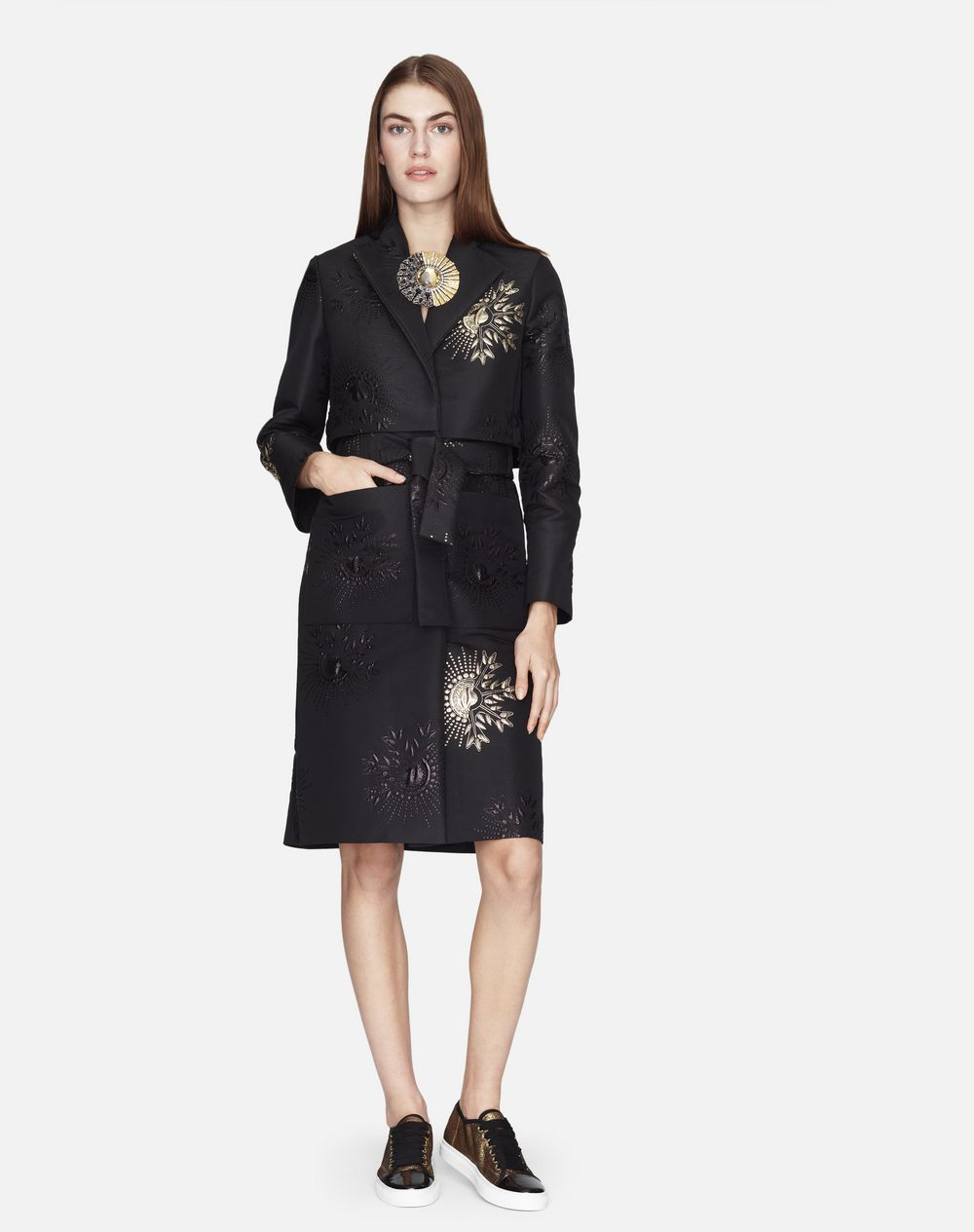 EMBROIDERED JACQUARD TRENCH COAT - Lanvin