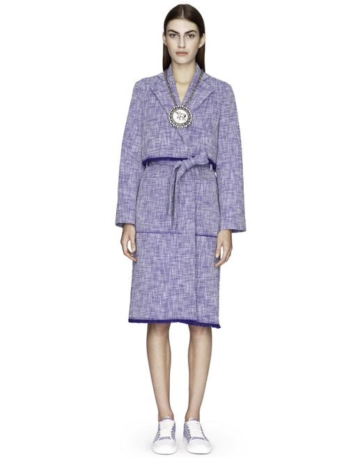 MANTEAU TRENCH EN TWEED  - Lanvin