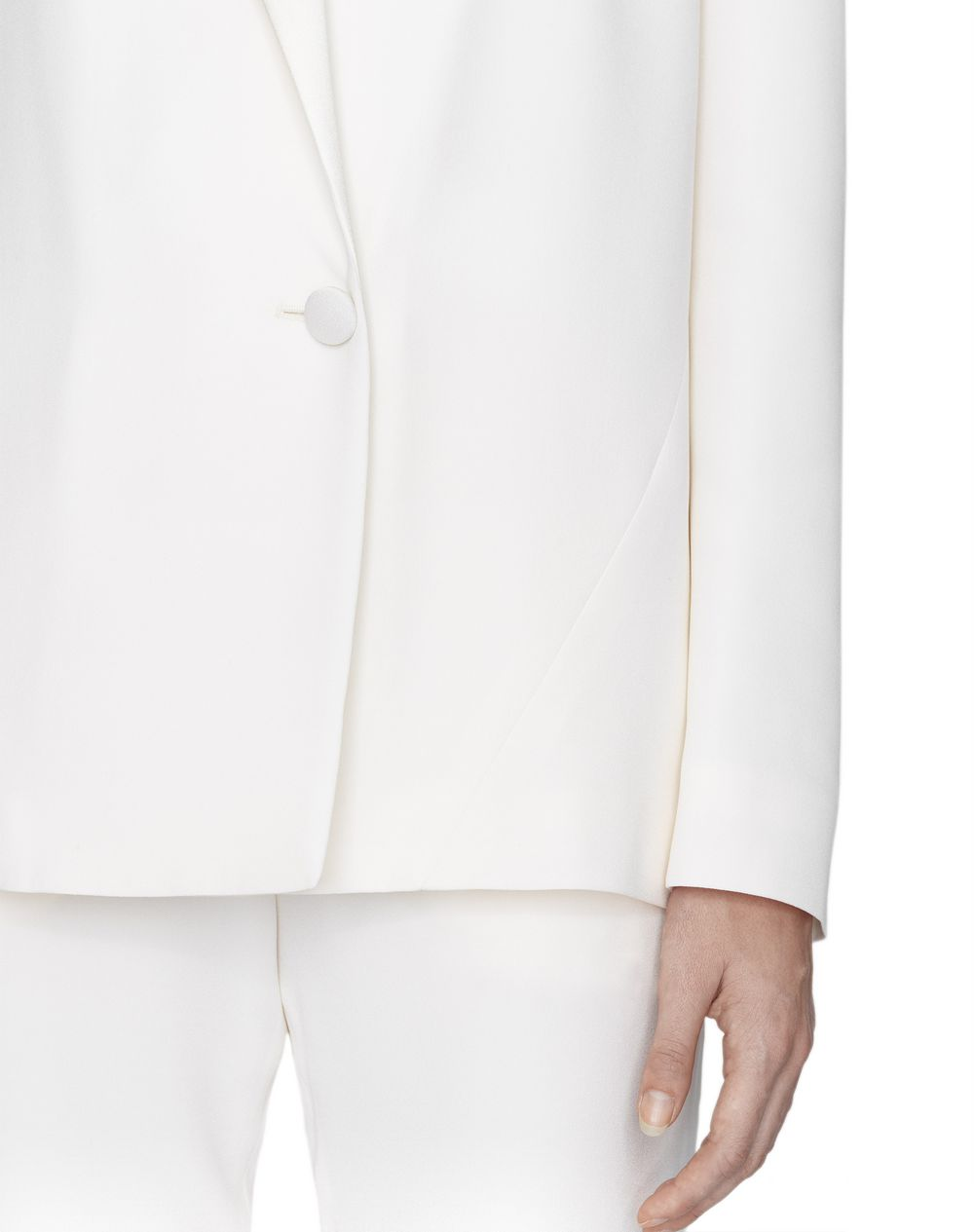 SATIN AND SILK TAILORED JACKET - Lanvin