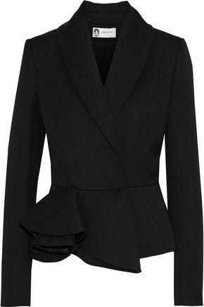 LANVIN Asymmetric ruffled wool blazer