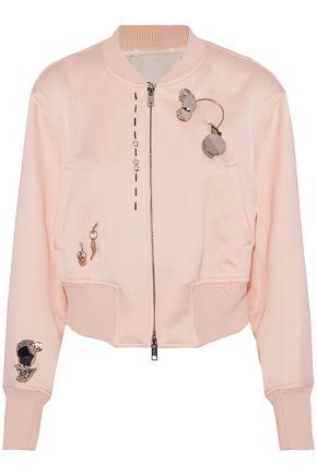 3.1 PHILLIP LIM Embellished crepe bomber jacket