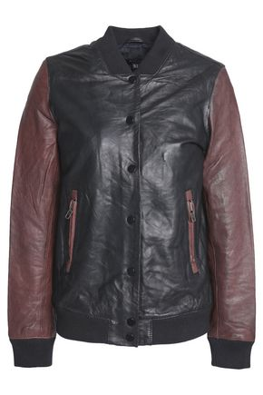 MUUBAA Two-tone leather bomber jacket