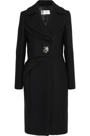 LANVIN Embellished wool-blend twill coat
