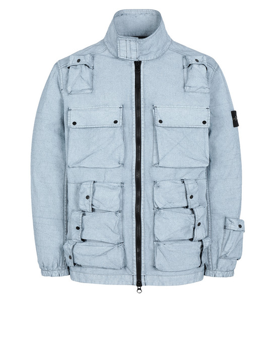 Jacket 43764 CANVAS PLACCATO STONE ISLAND - 0