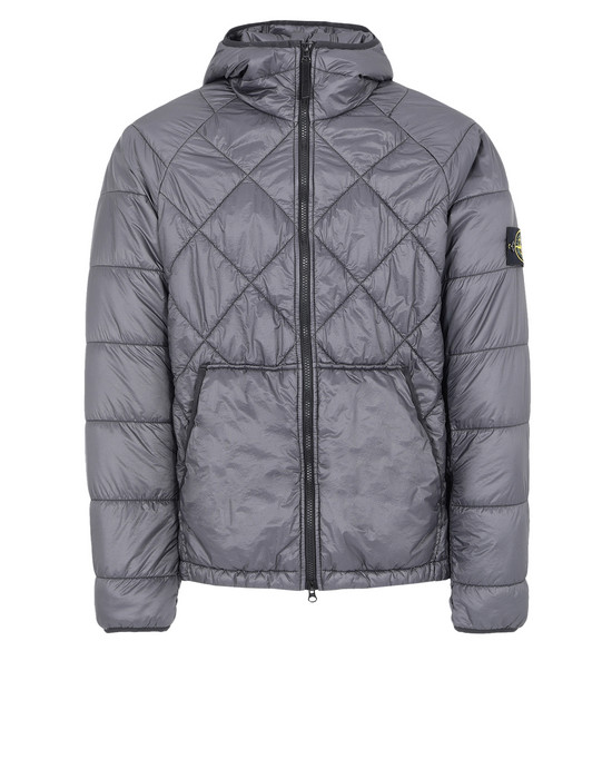 Jacket 40324 GARMENT DYED QUILTED MICRO YARN STONE ISLAND - 0