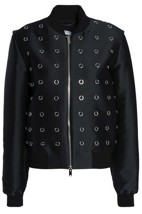 adc3434a3db STELLA McCARTNEY Embellished twill bomber jacket