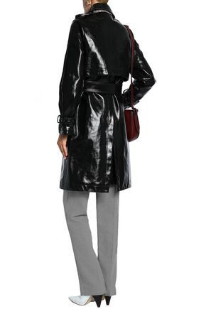 STELLA McCARTNEY Coated cotton-blend trench coat