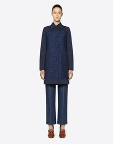 Fluid Faille and Heavy Lace Coat