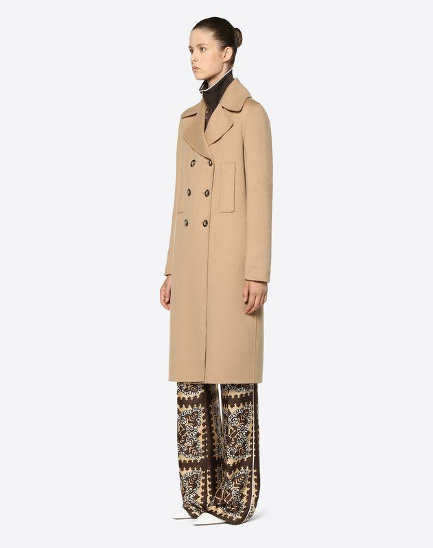 双层克什米尔羊绒大衣