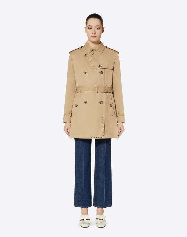 Trench in Gabardine Trench Rockstud Untitled