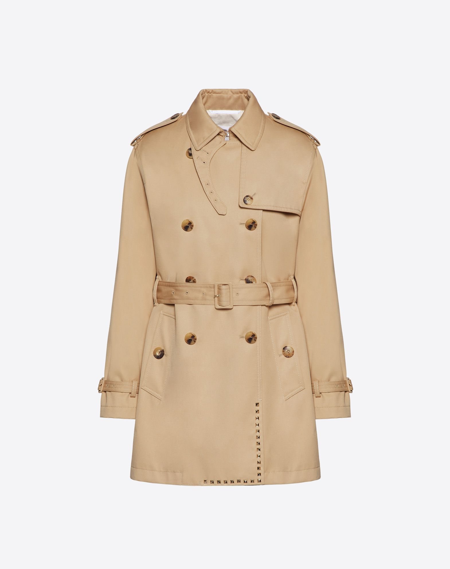 Rockstud Untitled Trench Gabardine Trench Coat