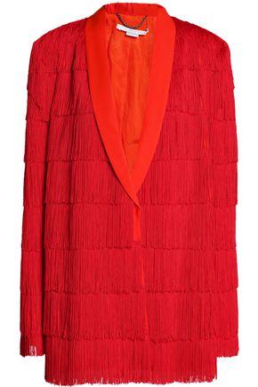 STELLA McCARTNEY Fringed wool-twill blazer