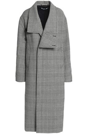 STELLA McCARTNEY Double-breasted Prince of Wales wool-blend trench coat