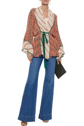 TALITHA Printed silk kimono