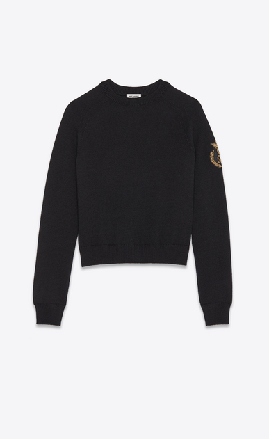 Wool sweater with SL patch