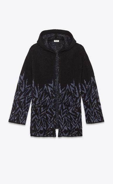 Boomerang jacquard baja hoodie with diamanté