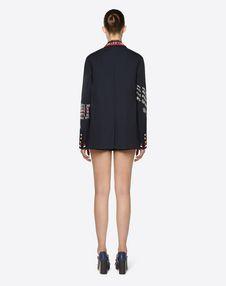 Embroidered Wool Gabardine Blazer