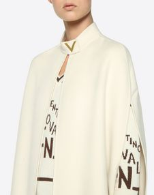 Light Double Drap Cape with Gold V Detail