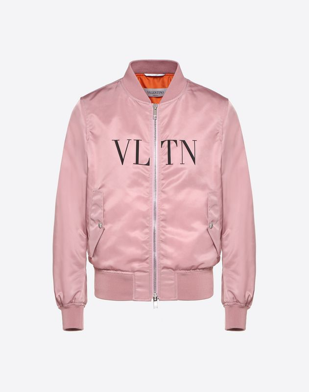 2c25fe778 VLTN Diagonal Nylon Bomber for Man | Valentino Online Boutique