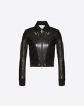 Heavy Calf Jacket with Gold V Details