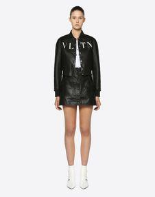VLTN Leather Varsity Jacket