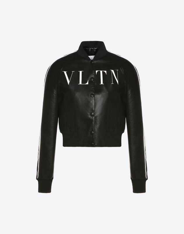VLTN Leather Varsity Jacket