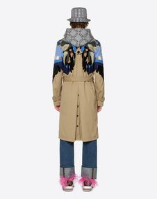 TRENCH COAT WITH INTARSIA WINGS