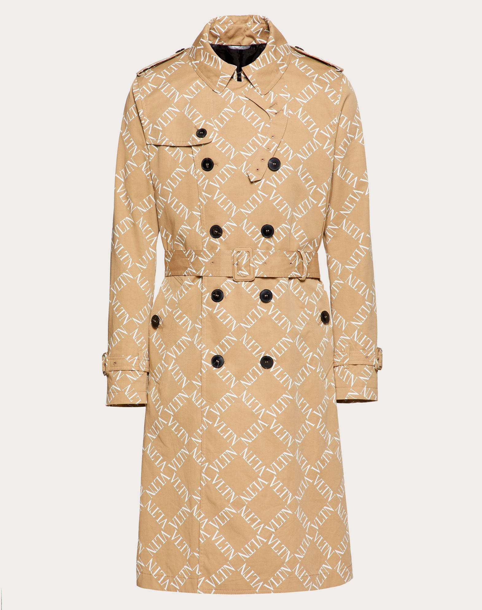 TRENCH COAT WITH VLTN GRID PRINT