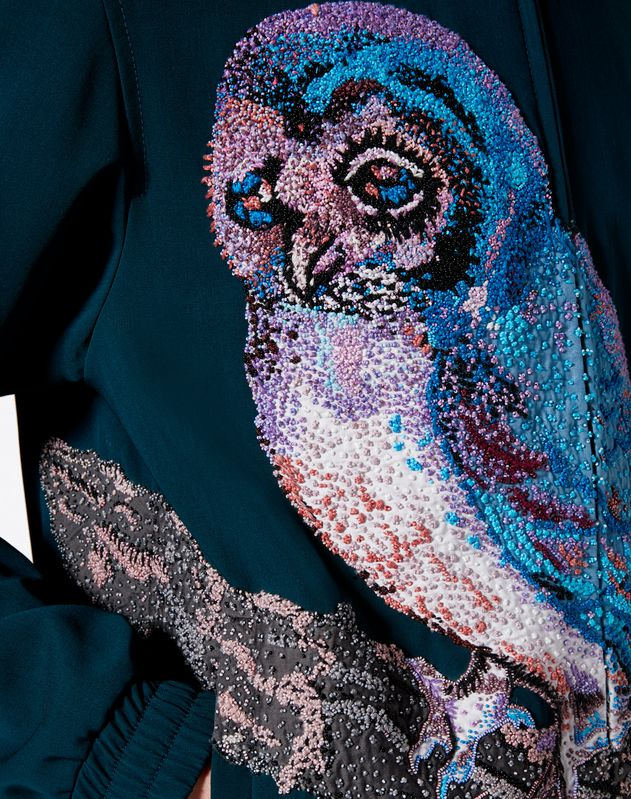BLOUSON WITH EMBROIDERED OWL