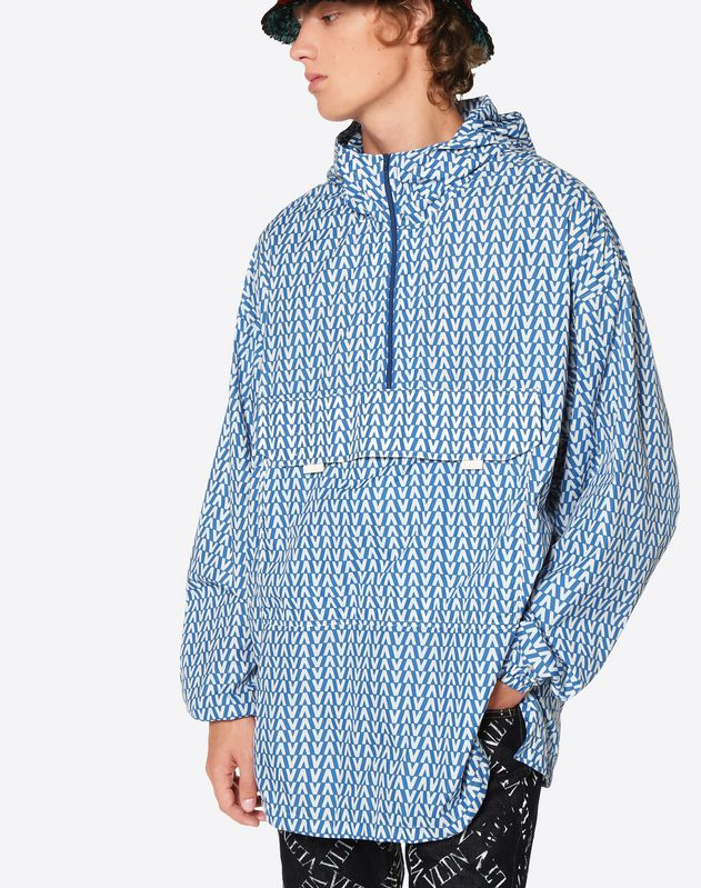 OPTICAL VALENTINO PRINT ANORAK