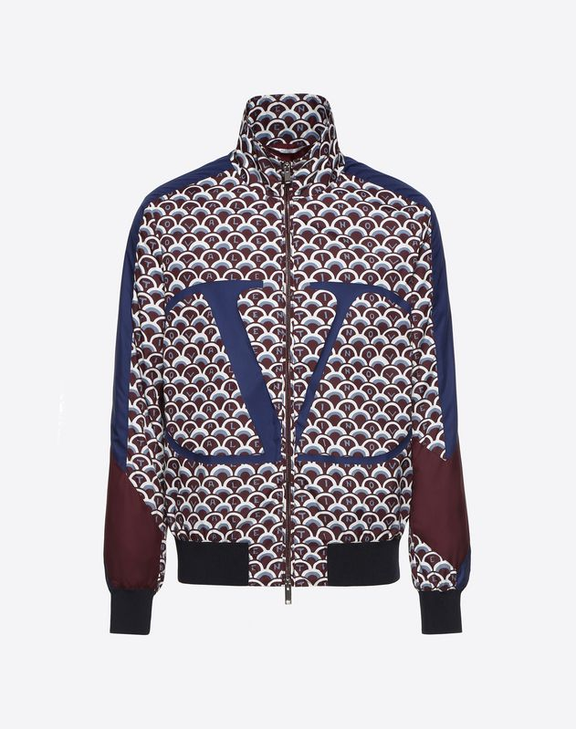 VALENTINO SCALE AND GO LOGO CROPPED BLOUSON