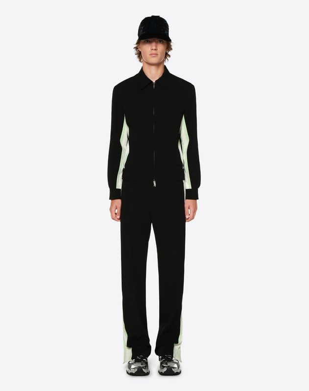 BLOUSON WITH CONTRAST SIDE STRIPES